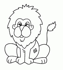 coloring page of animals lion kids colouring pages