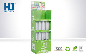 Display Stand Hs Code OEM Floor Paper Display Stand POP Cardboard Display For Juice Drinks 9