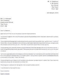 cover letter for insurance service customer representative customer service cover letter