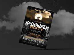 Free Halloween Party Costume Flyer Design Template 2017 By Zee Que