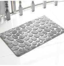 honana bx 212 3d pebbles bath rug natural absorbent rubber bath mat bottom cotton rebound mat