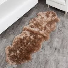 double paco sheepskin rug 2 pelt 2x6 ft special