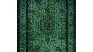 forest green area rug