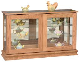 Amish Cabinet Doors Large Curio Cabinet From Dutchcrafters Amish Furniture