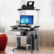 corner office tables. Ktaxon Rolling Computer Desk Laptop Home Office Study Table Printer Shelf Stand Corner Tables