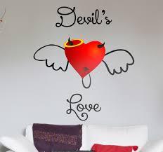 devil s love heart wall sticker