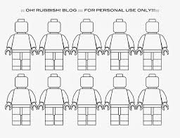Small Picture Lego Minifigure Template Coloring Coloring Pages