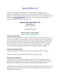 Resume Objective Statement Security Guard Resume Objective Professional Samples Vinodomia Of 88