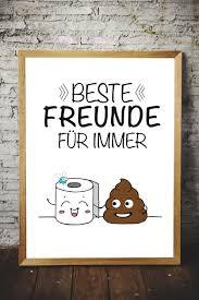 Wc Poster Spruch Beste Freunde Geschenk Klo Toilette Badezimmer