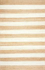 white jute rug striped in and natural yarn loom rugs round