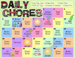 Kids Daily Chore Chart Criss Cross Applesauce Chore Charts For Kids Chore Chart