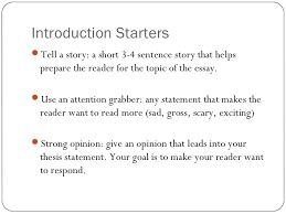 thesis statement sentence starters apa writing style abstract page writing training materials