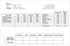 Sample Check Stub 62 Free Pay Stub Templates Downloads Word Excel Pdf Doc