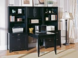 black office table. Tribeca Loft Black Office Furniture - Double Pedestal Executive Desk Table 2