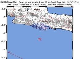 People interested in gempa hari ini also searched for. Gempa Tasikmalaya Hari Ini 18 Mei 2020 Terasa Di Garut Dan Pangandaran Pikiran Rakyat Com