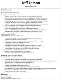 Executive Assistant Resume Resumesamples For Executive Assistant