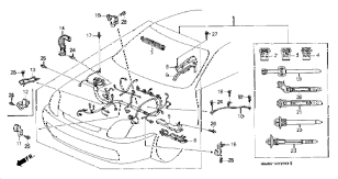 honda online store 1998 prelude engine wire harness parts 1998 prelude typesh 2 door 5mt engine wire harness diagram