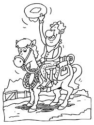 Kleurplaat Cowboy Op Zijn Paard Kleurplatennl