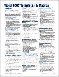 Microsoft Word 2007 Templates Macros Quick Reference Guide