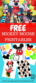 Diy Party Printables Free Mickey Mouse Printables And Party Ideas Diy