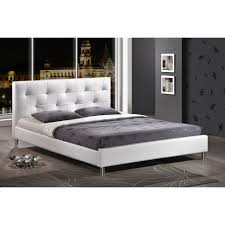 White Full Size Platform Including Bedroom Furniture Tall Gallery