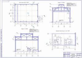 Архитектура Чертежи курсовые работы дипломные работы купить  Одноэтажное однопролетное промышленное здание чертеж