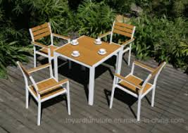 modern wooden outdoor furniture. Fine Wooden New Modern Patio Restaurant Dining Table Chairs Aluminum Wooden Garden  Outdoor Furniture Inside