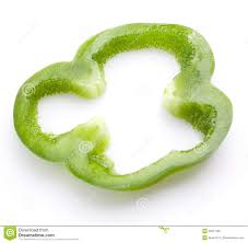 sliced green pepper clipart. Sliced Green Pepper Isolated With Clipart