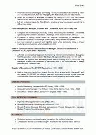 Fundraising Cv Example Charity Resume Template Veterinary Assistant