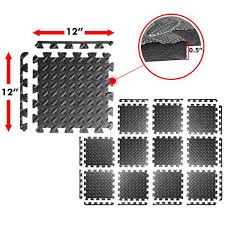 a2zcare puzzle exercise mat with eva foam interlocking tiles protective flooring perfect for home gym aerobic yoga pilates