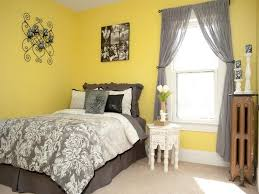 Yellow Bedroom Walls 15 Enjoyable Ideas Peaceful Yellow And Gray Master Bedroom  Decorating Ideas Scheme Wall With Grey Bedding Curtain