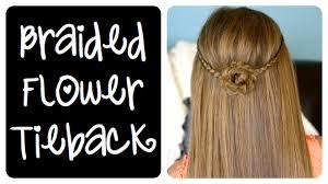 Hairstyles For School Step By Step Braided Flower Tieback Hairstyles For Long Hair Cute Girls
