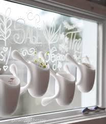 the view out my kitchen window isn t so pretty and it s right above the sink this is the perfect spot for a window garden and the chalk pen that s included