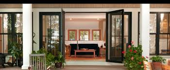 exterior of house with integrity wood ultrex fiberglass swinging patio doors