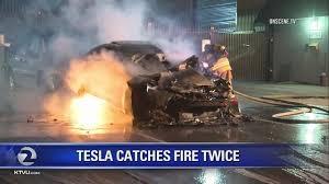 Image result for tesla on fire