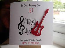 Dad Son Personalised For Sale Ebay Card Boyfriend Husband Online Guitar Birthday Male Handmade