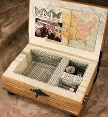 recycled book keepsake box more