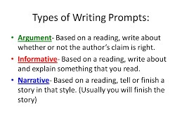 Example Essay Prompts Writing Prompt Examples What Are The 3 Types Of Writing