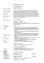 New Media Specialist Sample Resume Amazing Resume For Media Job