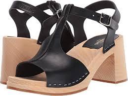 Amazon Com Swedish Hasbeens Womens Stitchy Sandal
