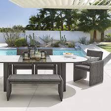 zuma expandable outdoor patio dining