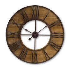 melrose international brown and antique large round wall clock bellacor number 2003670 melrose international brown and antique large round wall clock