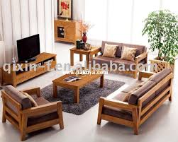 sofa modern wooden sets for living room with cushions simple wooden sofa set designs