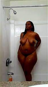 Bbw Ebony Shower Masturbation