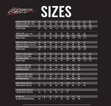 Rst Race Suit Size Chart Rst Size Chart Sydney City Motorcycles