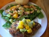 cashew and parsley crumbed chicken with mustard vinaigrette