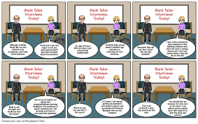 Job Interview Comic Strip Storyboard By Arielhatley