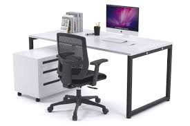 white modern office. Litewall Evolve - Modern Office Desk Furniture [1200L X 800W] JasonL White