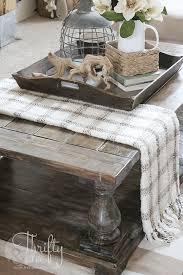 If you replace your coffee table with an ottoman, you have a place to put your feet up and relax, suggests robin. 6 Tips For How To Decorate A Coffee Table The Turquoise Home
