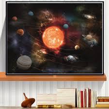 3d solar system wall art decor in most popular 3d solar system canvas art print painting on 3d solar system wall art decor with showing photos of 3d solar system wall art decor view 2 of 15 photos